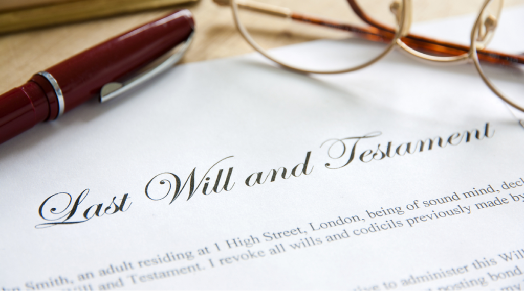 Blog post cover for selling your deceased parents home - how long do you have to sell a house after someone dies - photo of will and testament