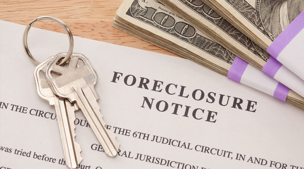 Foreclosure notice paper with keys and cash answering the question can i sell my house before foreclosure - quick home buyers nj